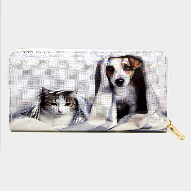 Cat And Dog 3d Hologram Wallet