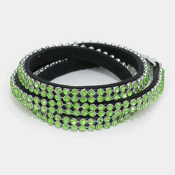 2-row Crystal Wrap Bracelet