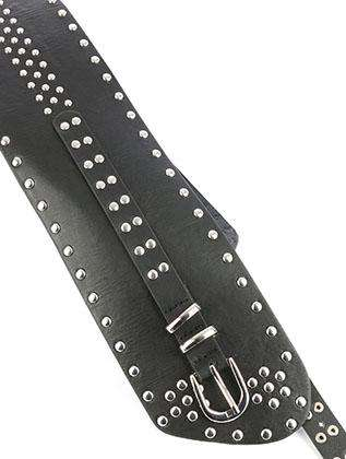 Bithiah Black Metallic Stud Belt