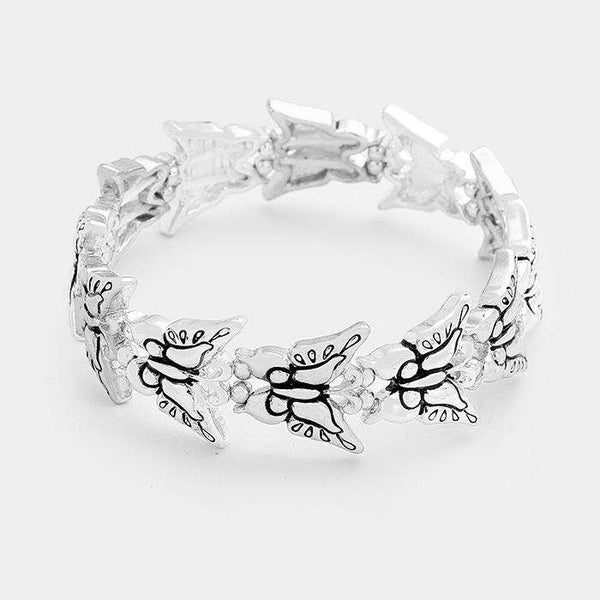 Butterfly Metal Stretch Bracelet