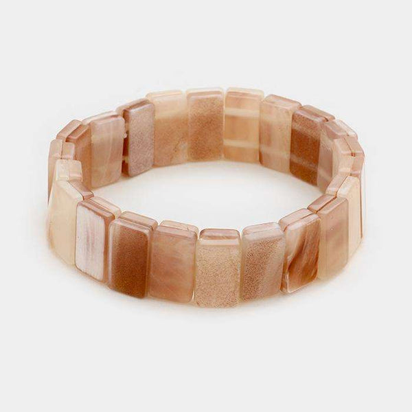 Celluloid Shell Stretch Bracelet
