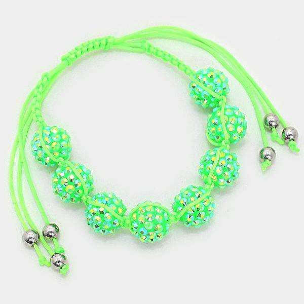 Crystal Disco Ball Shamballa Cinch Bracelet