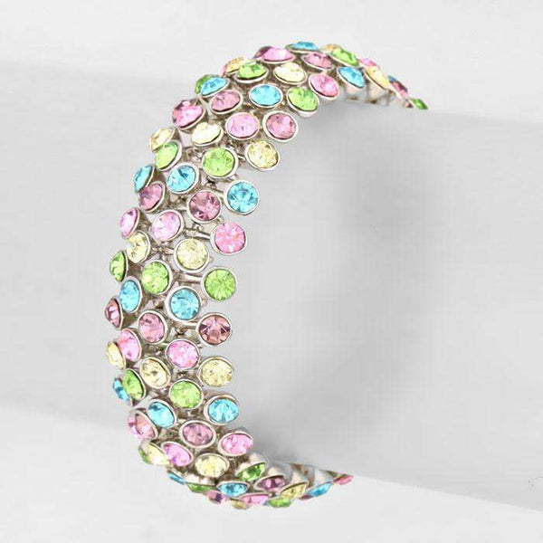 Crystal Rhinestone Bangle Stretch Bracelet
