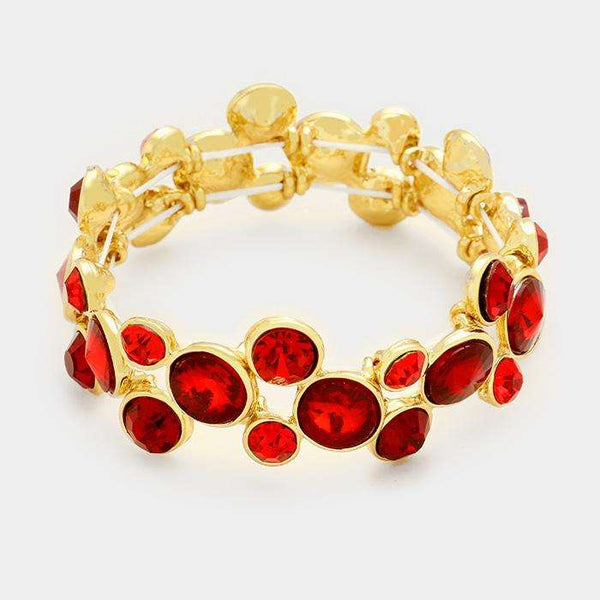 Crystal Rhinestone Bubble Stretch Bracelet