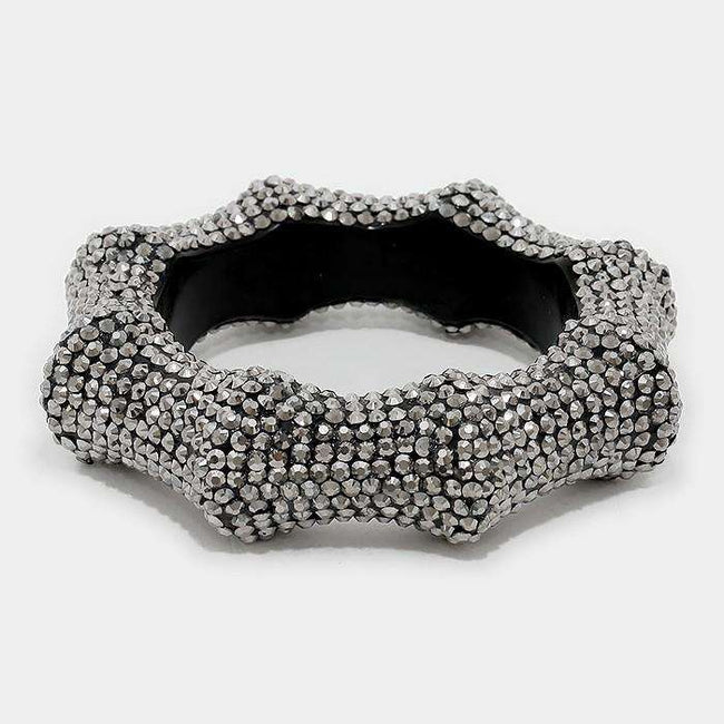 Crystal Studded Bangle Bracelet