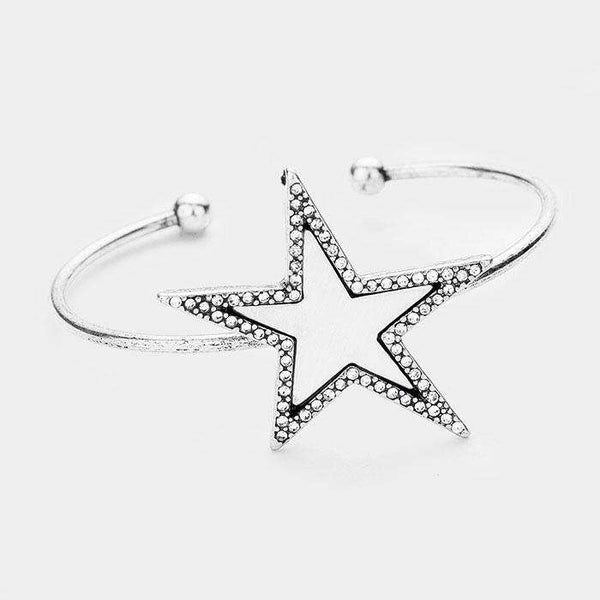 Crystal Trim Star Cuff Bracelet