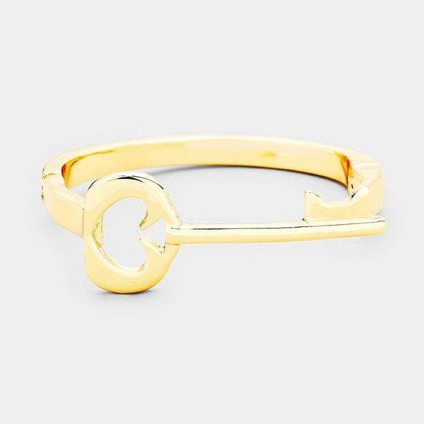 Cut Out Spade Metal Key Magnetic Bracelet