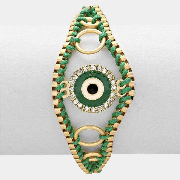 Enamel Evil Eye Cinch Bracelet