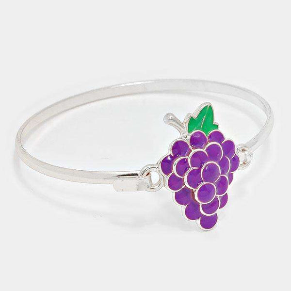 Enamel Metal Grape Hook Bracelet