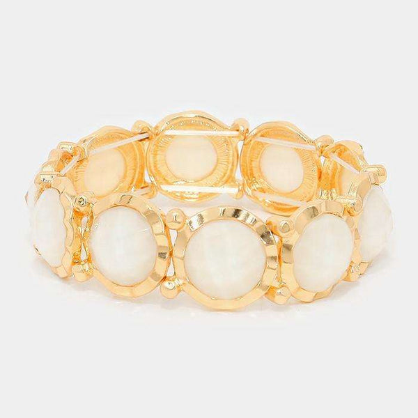 Faceted Bubble Stretch Bracelet