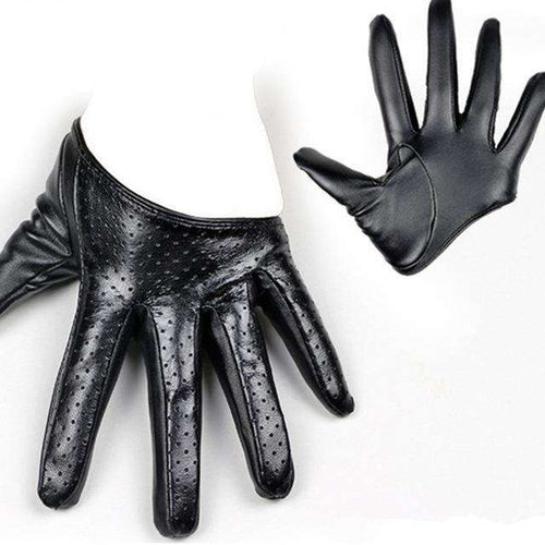 Half Palm Leather Gloves