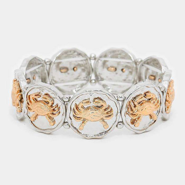 Metal Crab Stretch Bracelet