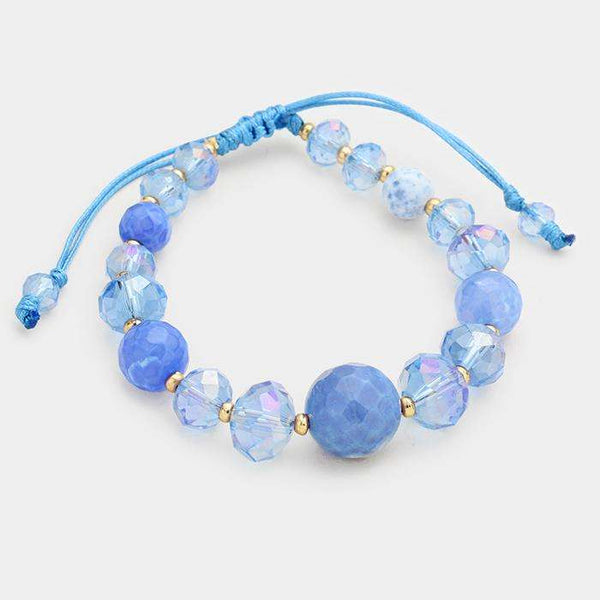 Semi Precious Beads Cinch Bracelet
