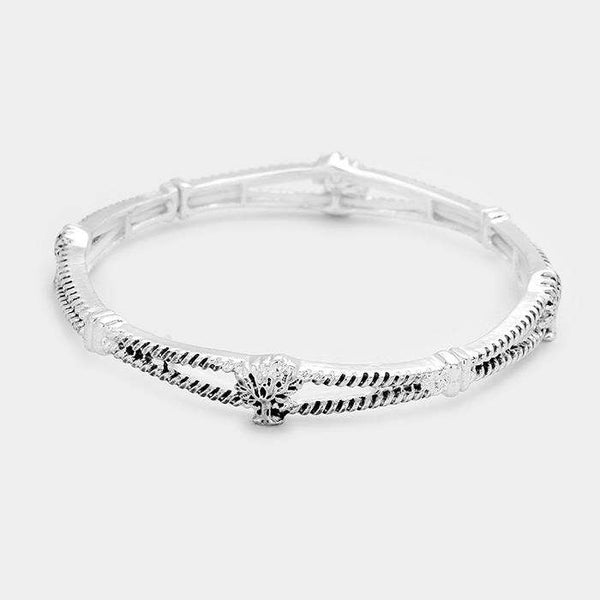 Tree Of Life Metal Stretch Bracelet