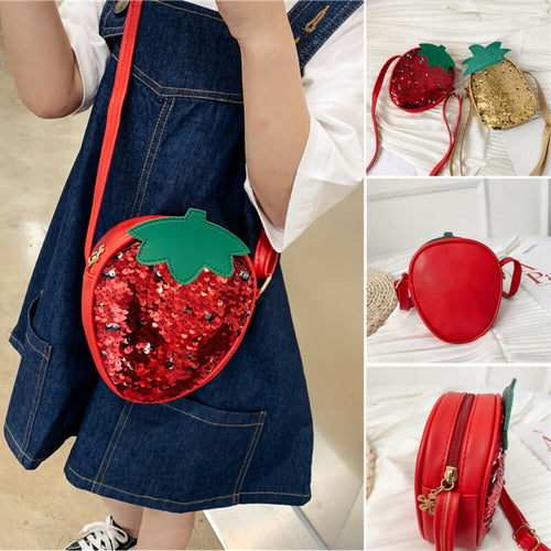 Lovely Strawberry Pineapple Sequins Bags