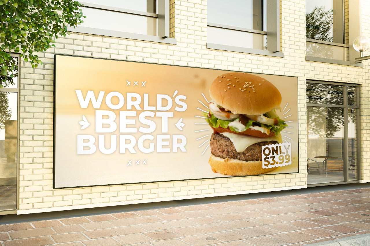 Marketing for a meat burger