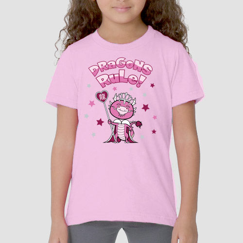 Year of the Dragon Chinese Horoscope Girls Kids Fine Jersey Tee