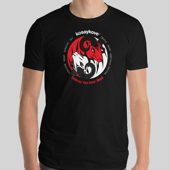 Year of the Goat - YIN YANG (Ram/Sheep) Mens Unisex Premium Tee