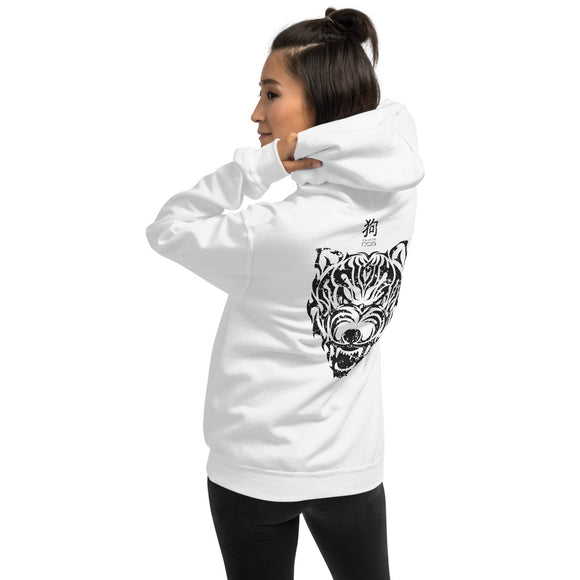 Year of the Dog Tribal Design - Hooded Unisex Sweatshirt