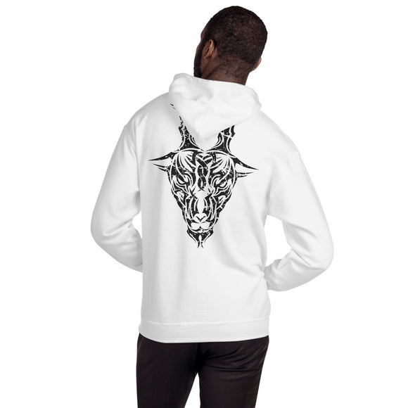 Year of the Goat Tribal Design - Hooded Unisex Sweatshirt