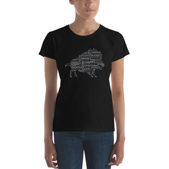 Year of the Pig - TRAITS - Ladies Fashion Fit T-Shirt