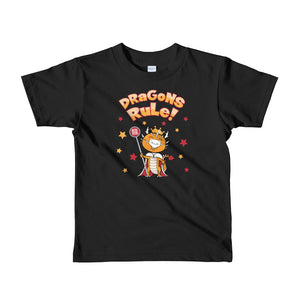 "Year of the Dragon Chinese Horoscope Boys Kids Fine Jersey Tee ""Ruling Beastees"""