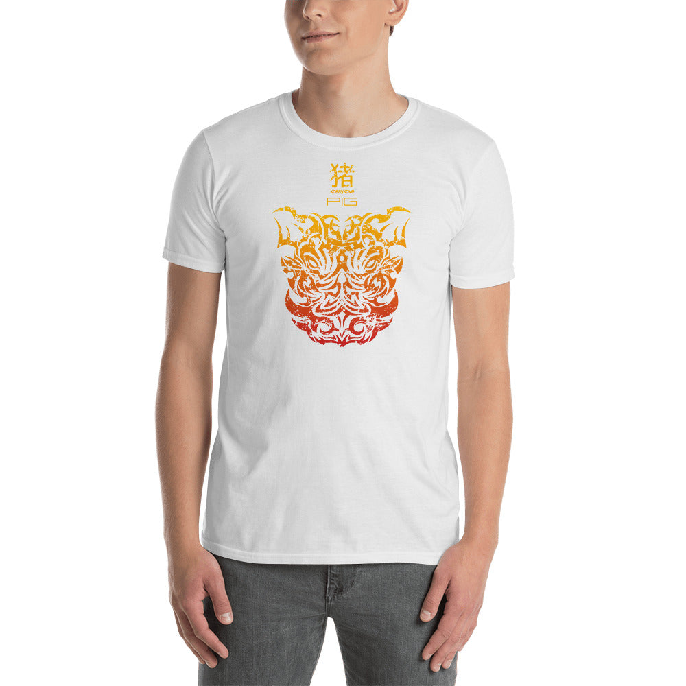 4bd428446cae ... Year of the Pig Front Tribal Design - Short-Sleeve Unisex T-Shirt ...