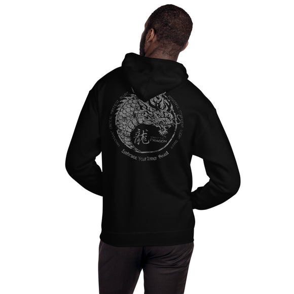 Year of the Dragon Chinese Horoscope Hooded Sweatshirt  Yin Yang