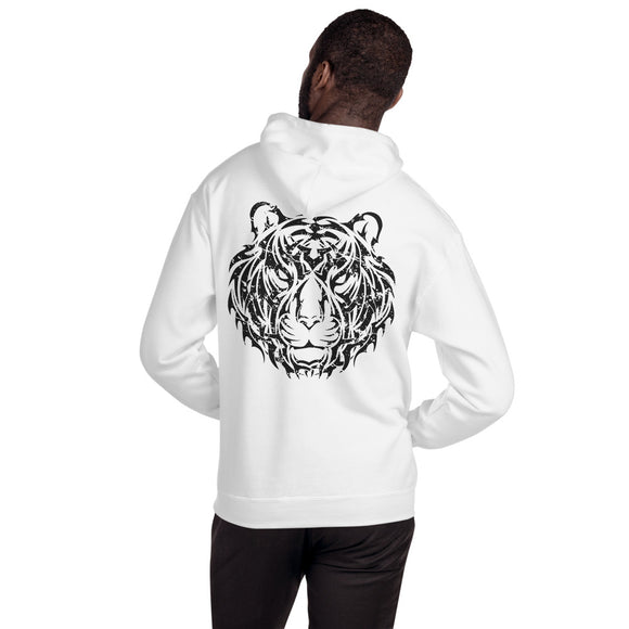 Year of the Tiger Tribal Design - Hooded Unisex Sweatshirt