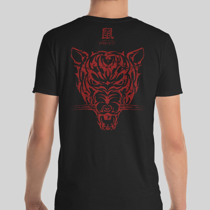 8a220cabc120 Year of the Rat Unisex T-shirt - Grunge Tribal Design on Back ...