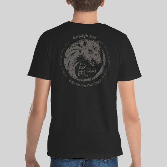 Year of the Rat Chinese Horoscope T-shirt Youth  -