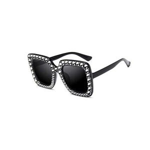 "UglyFace Female ""Iced Latte"" Retro Cat Eye Sunglasses"