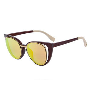 "UglyFace Female ""Double Vision"" Cat Eye Sunglasses"