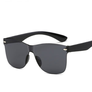 "UglyFace Unisex ""Beach Volleyball"" Rimless Square Sunglasses"