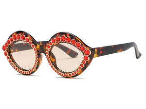"UglyFace Female ""Luscious"" Embellished Cat Eye Sunglasses"