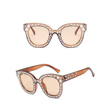 "UglyFace Female ""Diamonds"" Square Retro Sunglasses"