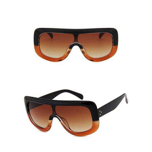 "UglyFace Female ""Sunique"" Oversized Square Sunglasses"