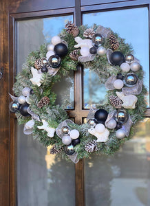 White and Black Wreath