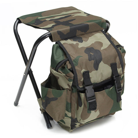 Foldable Backpack Camouflage Chair