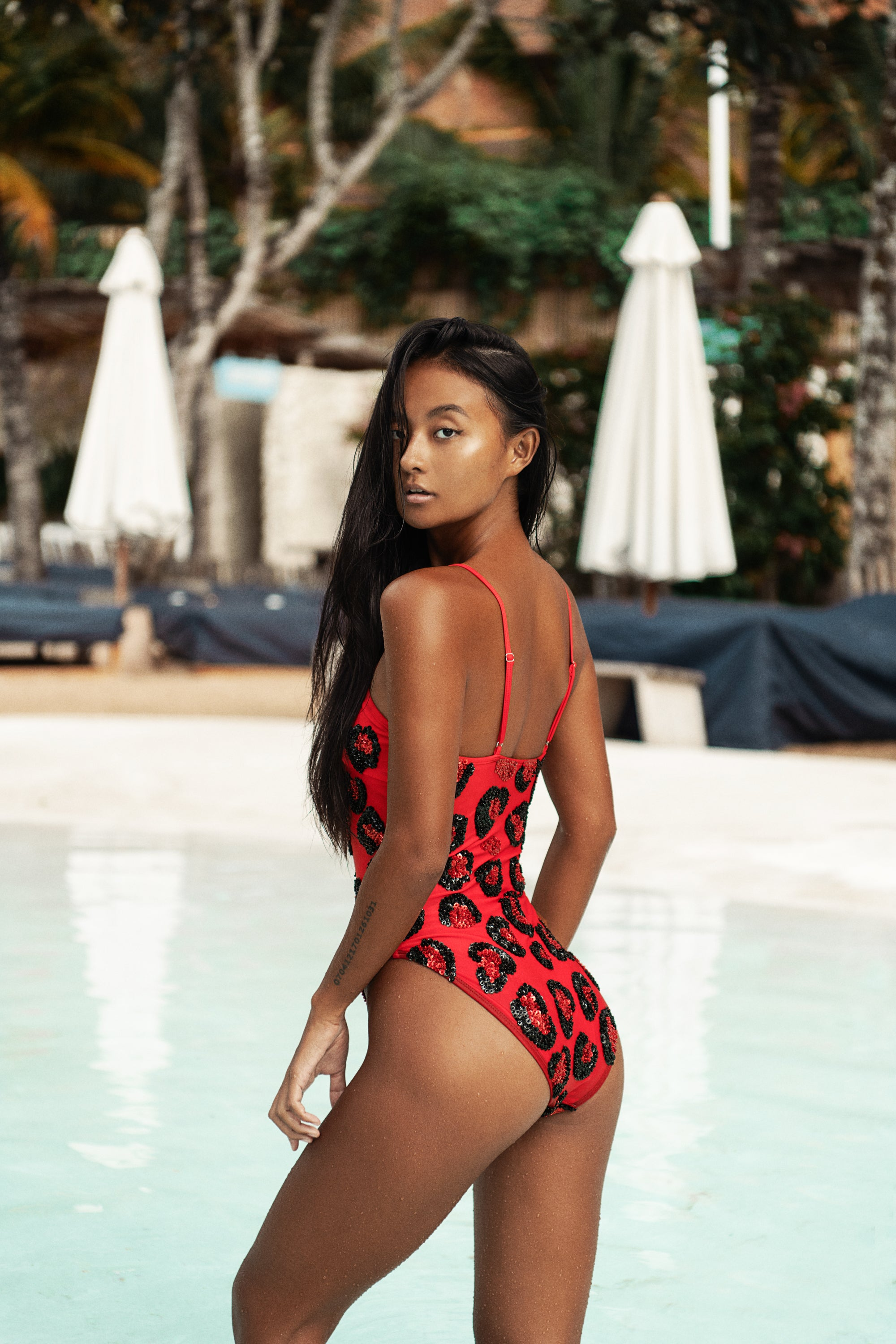 Lola One Piece - Red Leopard