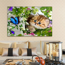 Load image into Gallery viewer, 5D Diamond Mosaic Painting DIY - Kitty
