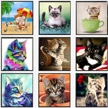 Load image into Gallery viewer, 5D Diamond Mosaic Painting DIY - Cat