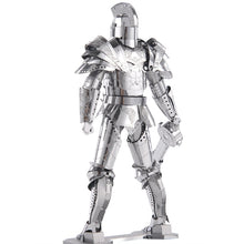 Load image into Gallery viewer, silver metal knight diy