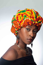 Load image into Gallery viewer, Ankara Print Satin Lined Bonnet
