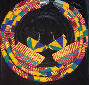 Kente Necklace & Earrings