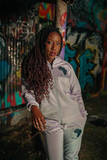 Load image into Gallery viewer, Mama Africa's Apparel Zip Up Hooded Tracksuit