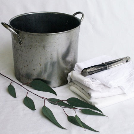 Dyeing with Eucalyptus and Iron Sulphate