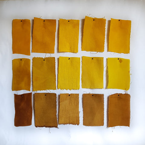Brown Onion Skin Dye Samples