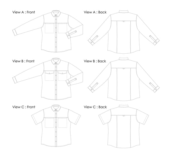 Sanders Button Up - Digital Sewing Pattern