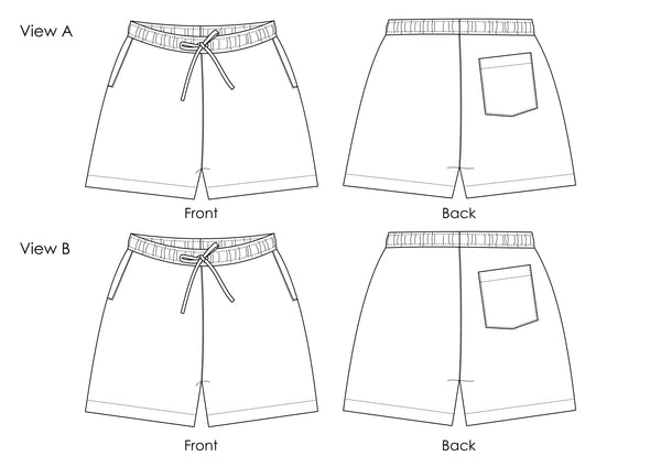 Trigg Shorts - Digital Sewing Pattern